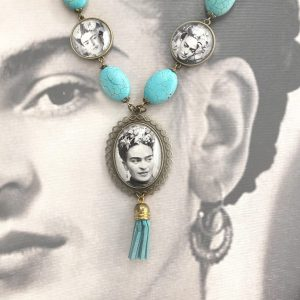 Frida Kahlo Turquoise Necklace