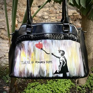 Banksy hand painted Bag