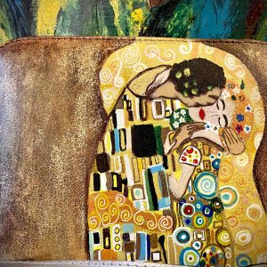 Hand painted Bag - Klimt the Kiss