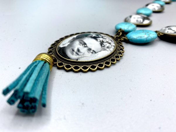 Firda Kahlo turquoise Necklace