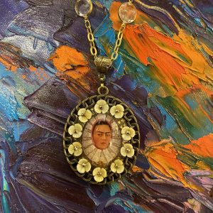 Frida Kahlo Necklace with Flowers