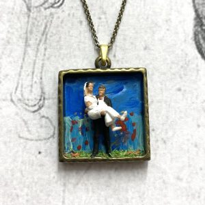 Wedding Diorama Necklace