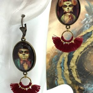 Diego and Frida handmade earrings