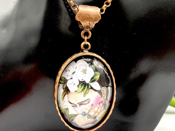 Frida Kahlo flowers Handmade Necklace