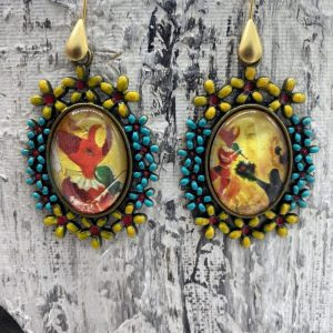 chagall handmade earrings
