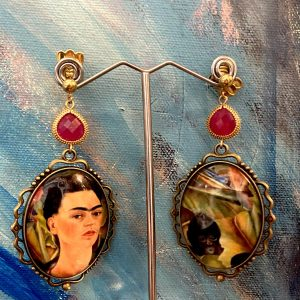 Frida Kahlo and monkeys Earrings