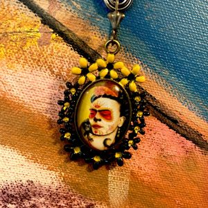 Frida Kahlo yellow flowers earrings