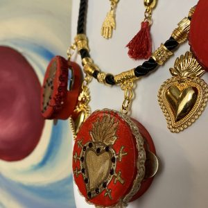 Tambourines Sacred Hearts necklace