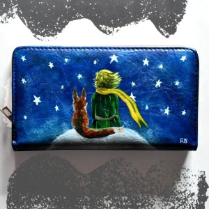 Petit Prince Hand painted wallet