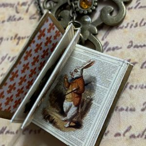 Alice Miniature book Necklace