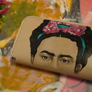 Frida Hand painted wallet