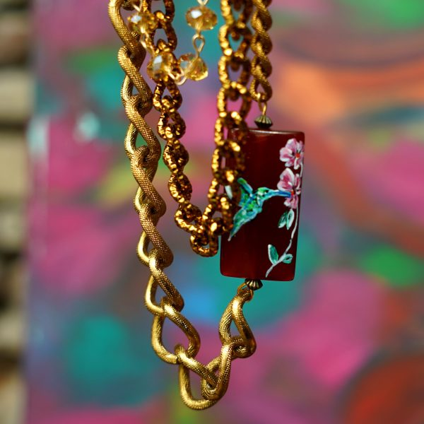 Necklace Chains and Carnelian