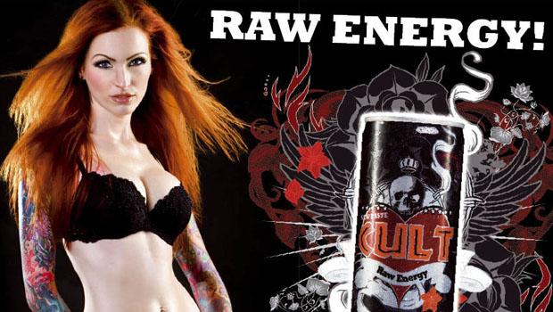 Cult Raw Energy –  faz comercial baseando em clipe do Prodigy