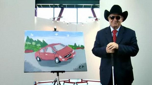 Artista cego pinta o novo Volvo  S60
