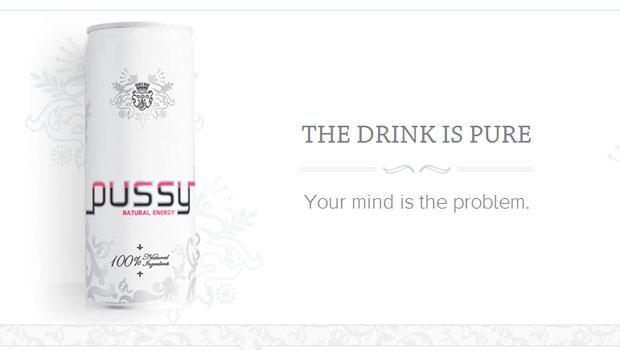 Pussy Energy Drink – uma bebida polêmica.