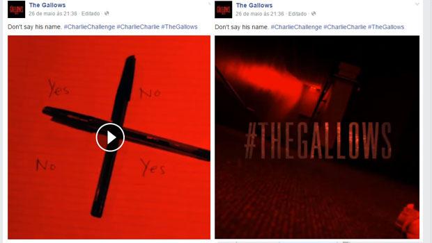 Charlie Charlie é um viral para promover o filme The  Gallows