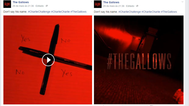 Charlie Charlie é um viral para promover o filme The  Gallows