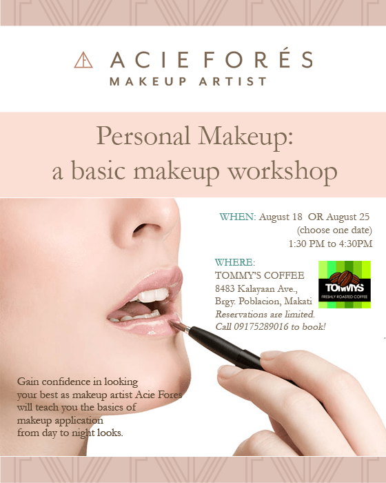 Personal Makeup Workshop | Acie Fores