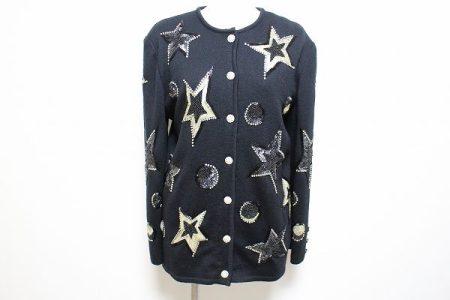 マダムジョコンダ ニットジャケット M ビーズ刺繍 星柄 スパンコール #446591