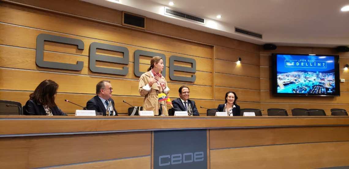 Medellín presenta en Madrid proyecto de estabilidad para inversores españoles