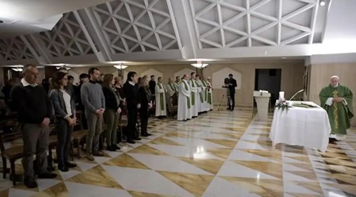 El Papa en la Misa. Foto: L'Osservatore Romano