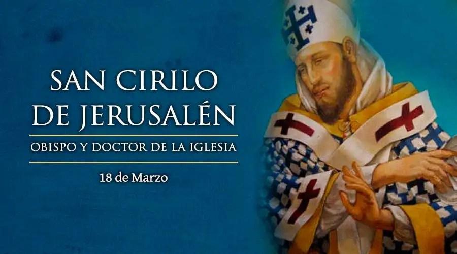 Resultado de imagen para San Cirilo de Jerusalén