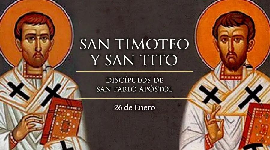 Resultado de imagen para Santos Timoteo y Tito
