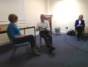 Jo O'Sullivan is quizzed by Brian Grogan