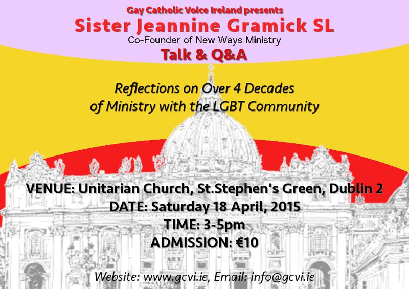 Sr Jeannine Gramick event