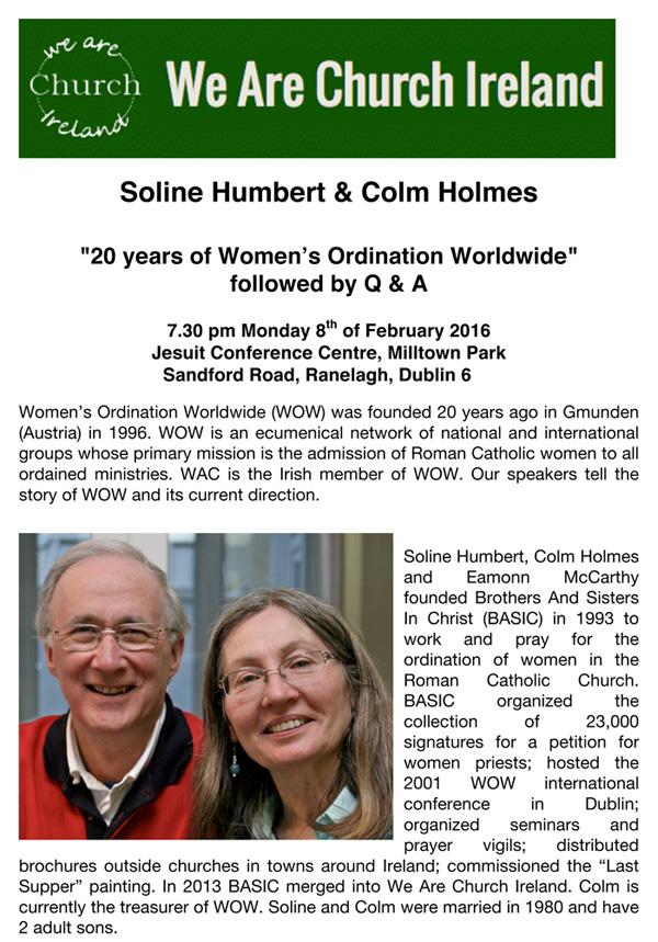 Microsoft Word - Women's Ordination Worldwide 8 Feb 2016.doc