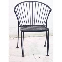 Black Metal Patio Chairs Inexpensive Kitchen Used Outdoor Dining Seating Chair Sku 153512 Sold