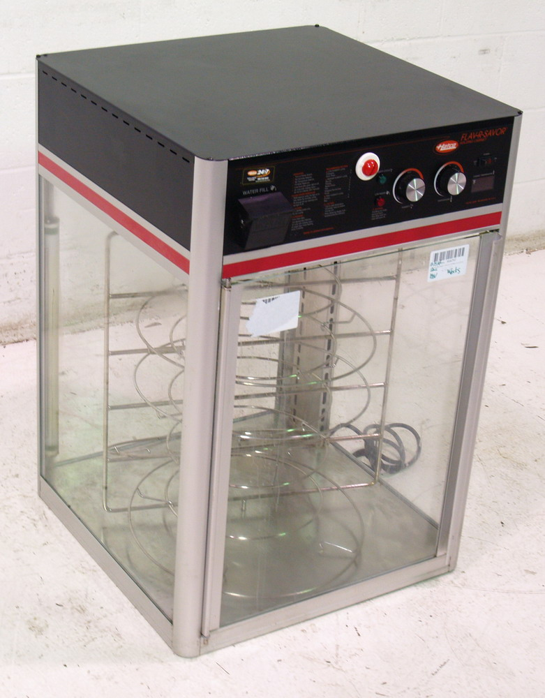 Used Hatco FSDT1 Pizza Display Warmer w Revolving Rack