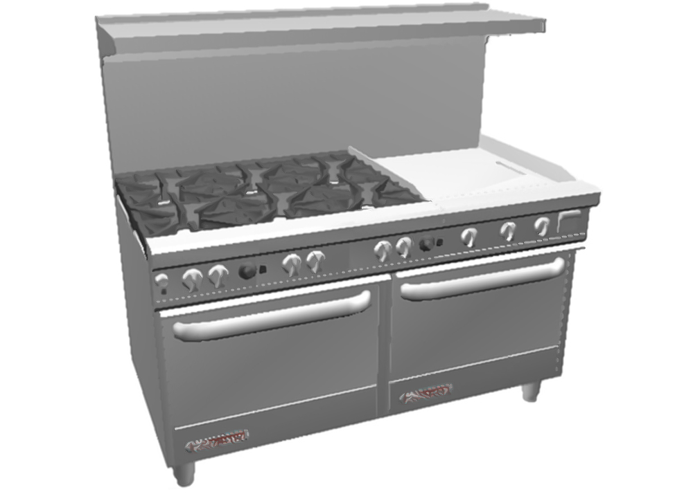 natural gas kitchen stove stores denver southbend s60dd-2g 60in restaurant range 6 burner - 24in ...