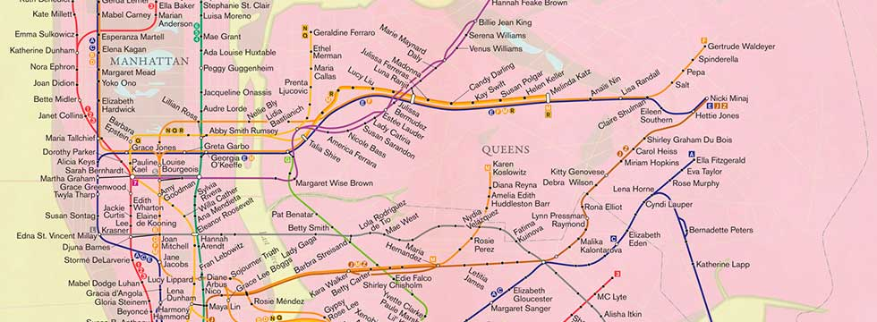 Solnits Subway Map Video.About A City Of Women
