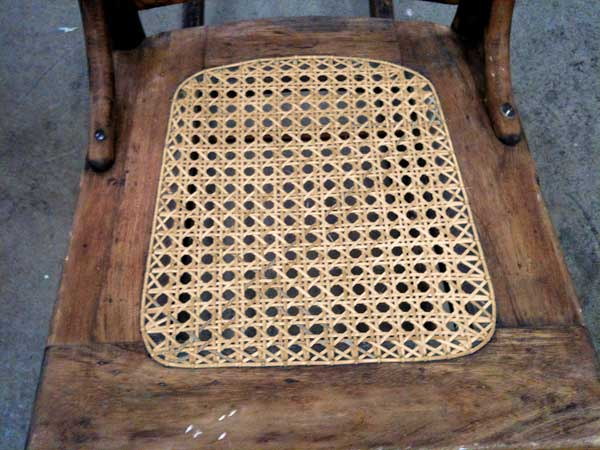 how to replace cane back chair with fabric ikea kivik ackerman s furniture workshops rush and hand weaving service handcane sm