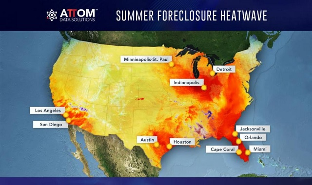 Heatwave: Foreclosures Rise For First Time In 36 Months, Florida Up 35%