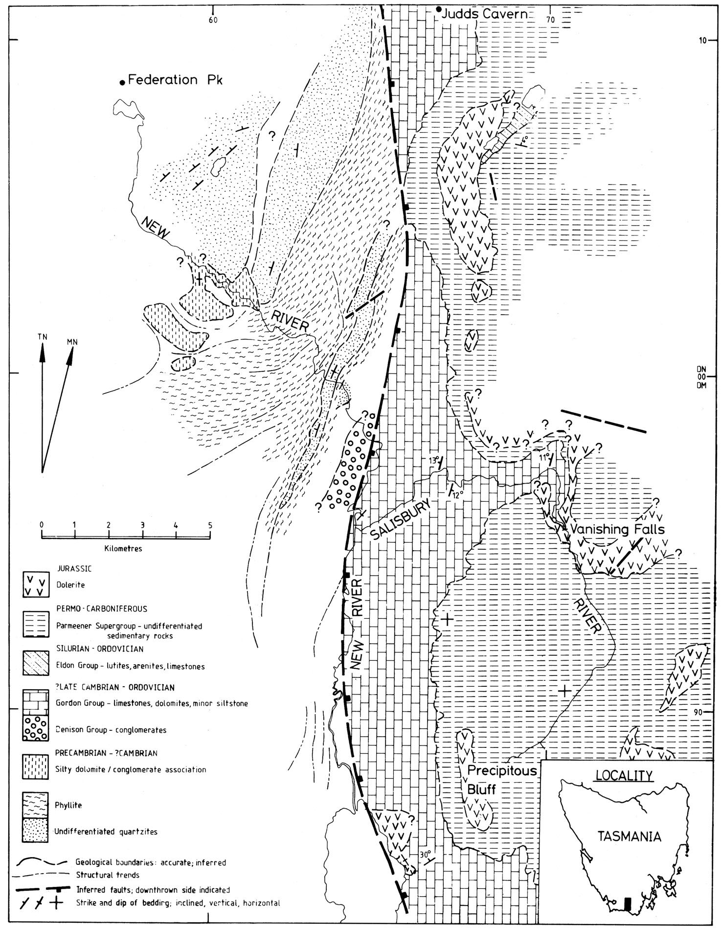 hight resolution of figure 8 geological map of the new river salisbury river basin showing the known and interpolated extent of karstic ordovician gordon group limestone in