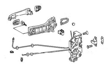 Door Anatomy Latch & Door Latch Assembly Diagram