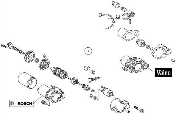 Bert Rowe's-Mercedes-Benz 'A'-class info. Starter Motor