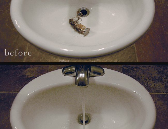 How to Un-Clog Your Bathroom Sink
