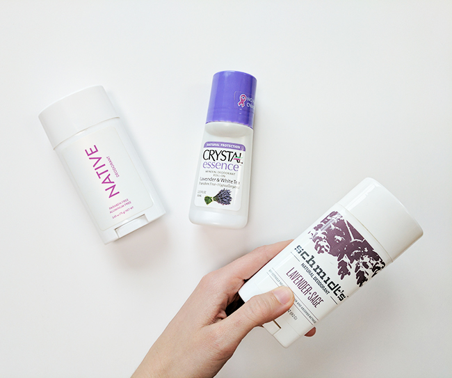 Testing three popular natural deodorant brands