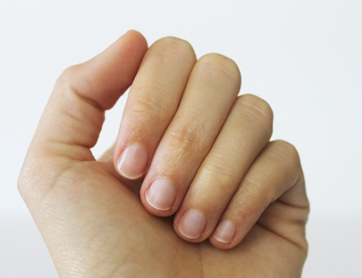Learn how to give yourself a chic polish-free manicure