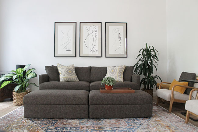 Living room makeover - materials and sources