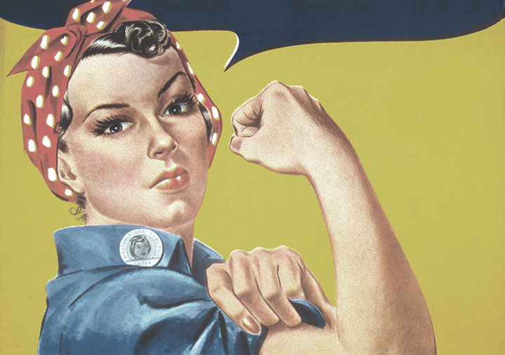 Eco-friendly thrift store Halloween costume ideas - Rosie the Riveter