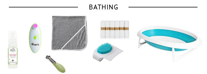 Minimalist Newborn Bathing Essentials
