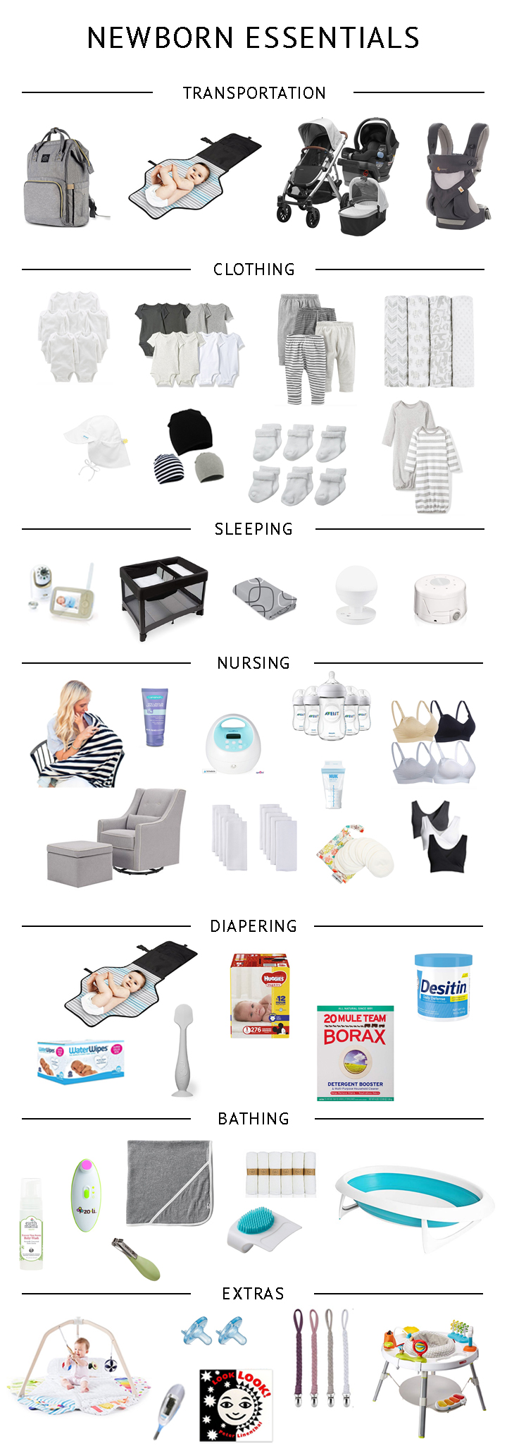 Minimalist Newborn Essentials