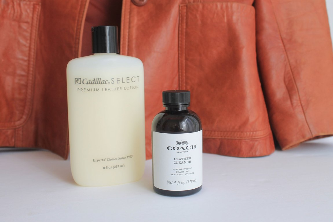 Leather jacket cleaning products and leather jacket conditioner