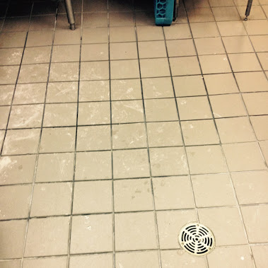 tile work # grout work Smash burger Resteraunt grout replacement on ...