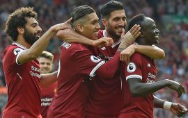 Liverpool hit four past uninspiring Arsenal at Anfield