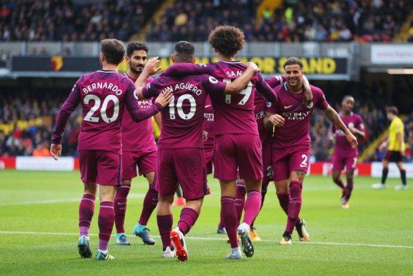 Aguero scores hat-trick as Man City hammer Watford